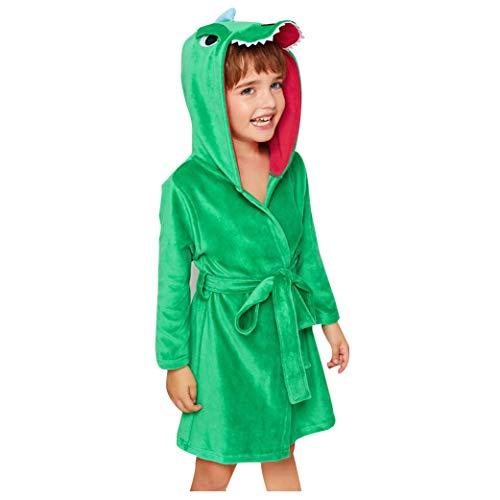 aipaly Kinder Bademantel mit Kapuze Baby Cartoon Weich Baumwolle Pyjama Nachtwäsche