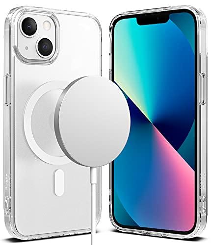 Ringke Fusion Magnetic Compatible con Funda iPhone 13 (2021), Magnética Funda Compatible con Cargador MagSafe, Carcasa Anti Huella Dactilar - Matte Clear