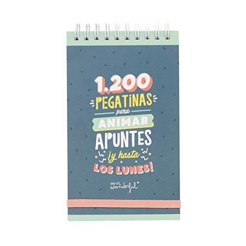 Mr. Wonderful Bloc con 1200 pegatinas para animar apuntes ¡