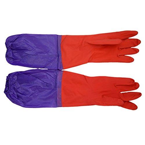 UEETEK Aquarium Water Change Handschuhe Paar Ellenbogenlänge Wasserresistente Handschuhe