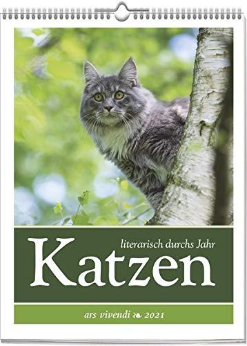 Literarischer Katzen-Kalender 2021: Wochenkalender mit Fotografien und Zitaten - Kalender Katzen 2021