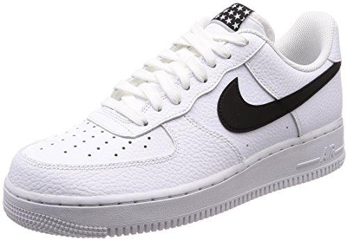 Nike Air Force 1 '07, Zapatillas de Gimnasia para Hombre, Negro (White/Black 103), 43 EU