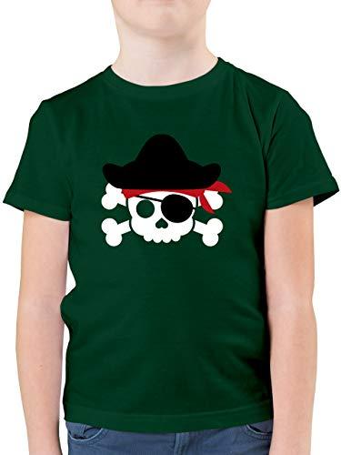 Karneval & Fasching Kinder - Piratenkopf Kostüm - 116 (5/6 Jahre) - Tannengrün - kostüm Jungs 140 - F130K - Kinder Tshirts und T-Shirt für Jungen