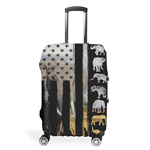 Neuheit Verschiedene Typen Kofferschutzhüllen elastische Hülse 18/24/28/32 Zoll für Gepäck White l (66x96cm)