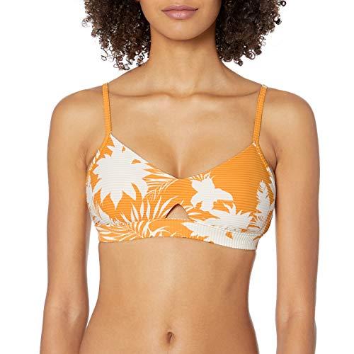 Seafolly Damen Wild Tropics Hybrid Bralette Bikinioberteil, Gold (Saffron Saffron), 38 (Herstellergröße: 12)