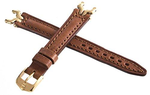 TAG HEUER SEL Correa de cuero marrón tono dorado hebilla reloj correa 13mm