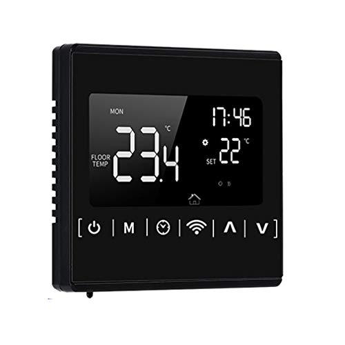 bansd Termostato de Suelo Radiante Controlador de Temperatura de Control de Pantalla táctil LCD Negro con WiFi