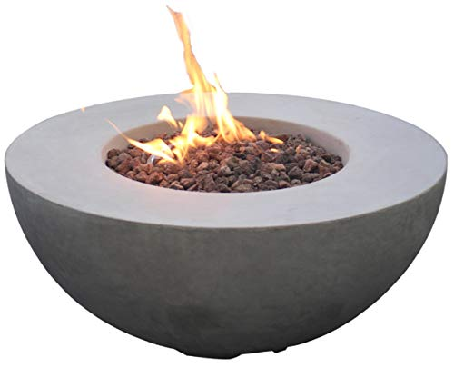 Modeno Roca Concrete Propane Fire Table, Outdoor Fire Pit Table/Patio Furniture,...