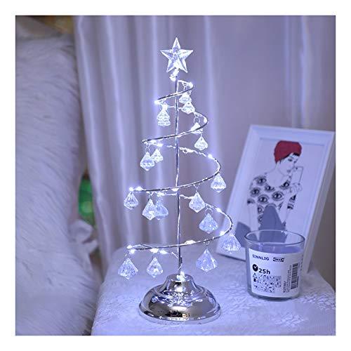 Estatuas Sobremesa Led de luz del árbol - Cristal de Escritorio Espiral Brillante de luz, lámpara de Cristal Decorativo de Navidad, árbol Artificial de Cristal en Forma de iluminación for el hogar/l
