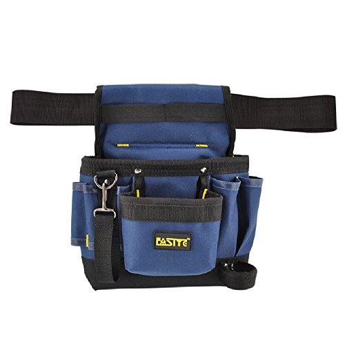 tool with pouches FASITE Tool Pouch Belt, 7-Pocket Professional Small Electrical Maintenance Work Pouch Bag, Technician's Tool Holder Work Organizer with Adjustable Nylon Belt