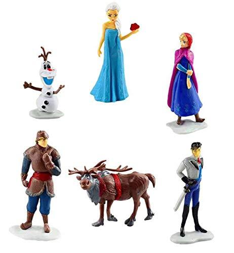 REYOK Frozen Figures Set 6 Stück Frozen Geburtstags Party liefert Cupcake Figuren Party Kuchen Dekoration Cake Topper Lieferungen Frozen Shadow Tails Charaktere Figur Spielzeug