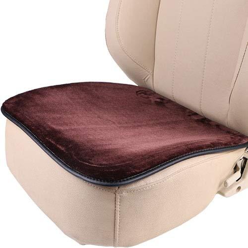 Felpa corta interior del coche de la cubierta de asiento, caliente suave del amortiguador de asiento estera del cojín del invierno ajuste universal for la comodidad en el modo automático, la oficina o