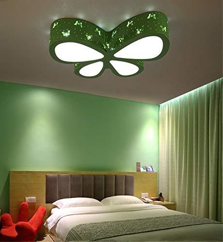 LAMP Hauptschlafzimmer-Deckenleuchte, Deckenleuchten-Schmetterling Nette geführte Deckenleuchten für lebende Mädchen und Babys Kreative Schmetterlings-Kinderzimmer-Mädchen-Rosa-Prinzessin Room Illumi