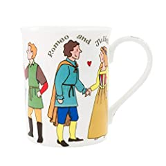 BEAUTIFUL DESIGN: Alison Gardiner has decorated this mug with beautiful editions of Shakespeare characters. It makes the perfect gift for a literature lover, English major and history lover. SECRET CODE: Since each of our mugs is hand crafted, the li...