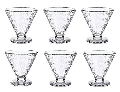 Set de 6 copas de helado de cristal de 10cm diametro
