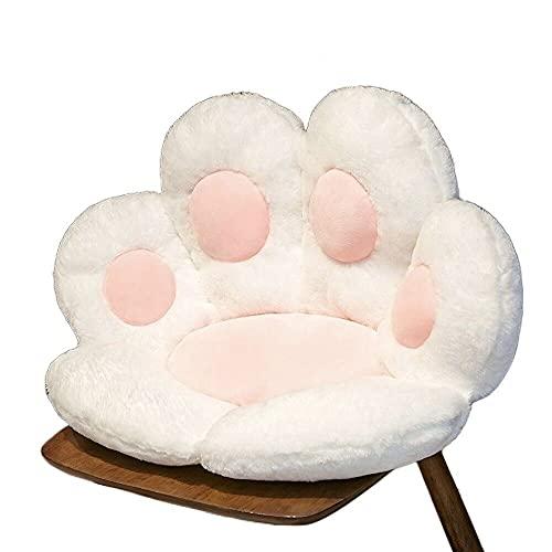 KLGComfortable Chair Cushion Plush cat paw Cushion Lazy Sofa Cushion Comfortable Cushion Cushion Pillow Girl Gift (White,80X80CM)