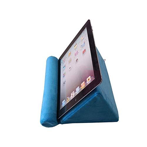 Kaptin Tablet Kussen, Mini Tablet Computer Houder Sofa, Lezen Standaard, Tablet Stand, Desktop Stand Houder voor iPad Pro,Air Mini,eReaders,Boek, Blauw