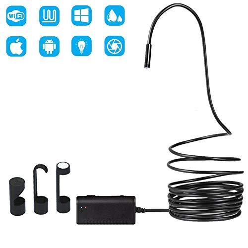 WangT Periscoop 1200P Wifi 8 mm endoscoop IP67 waterdichte inspectiecamera voor iOS/Android/Windows met 6 verstelbare ledlampen