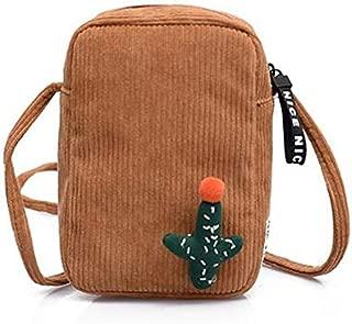 TOOGOO Velvet Packet Shoulder Diagonal Bag Mobile Phone Cute Casual Cartoon Small Square Bag Yellow