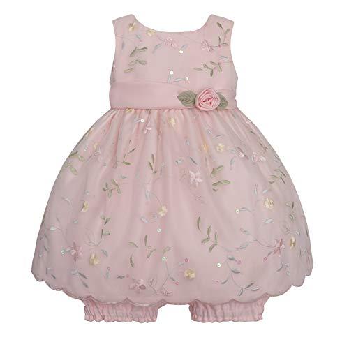 American Princess Traum Baby Mädchen Organza Petticoat Kleid inkl. Windelhöschen in zartem rosa - Taufkleid Gr. 56,62,68,74,80,86 (74)