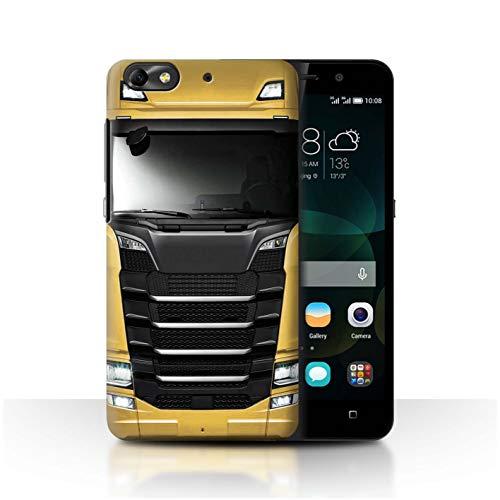 eSwish Hülle/Case für Huawei G Play Mini/Gelb Gold Muster/LKW HGV Euro Kabine Vorbei Kollektion