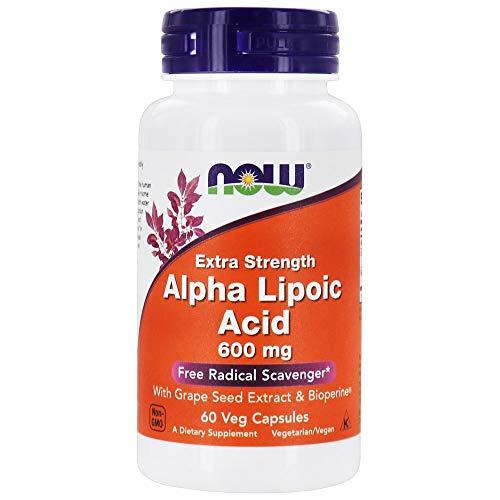 Now 600Mg Acido Alfa Lipoico 60 Veg Capsule - 60 g