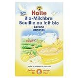 Holle Papilla de Trigo y Plátano con Leche (+ 6 meses) - 3 Paquetes de 1 x 250 gr - Total: 750 gr