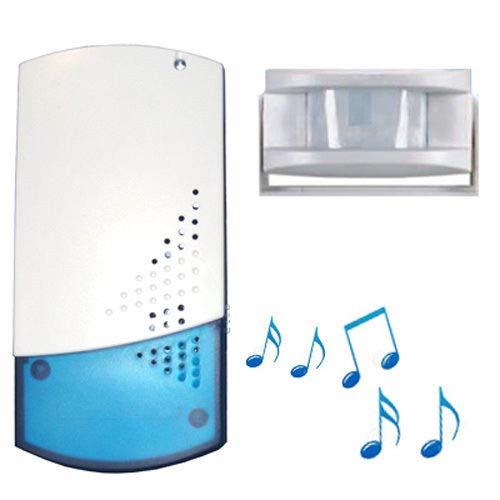 B2 PIR-sensor voor laadingangen, draadloos, inclusief stopcontactapparaat met deurbel-/alarmfunctie, 8 melodieën