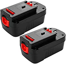 [Upgraded to 3600mAh] HPB18 Replacement Battery for Black and Decker 18 Volt Battery Ni-Mh Compatible with HPB18-OPE 244760-00 A1718 FS18FL FSB18 Firestorm Cordless Power Tools 2 Packs