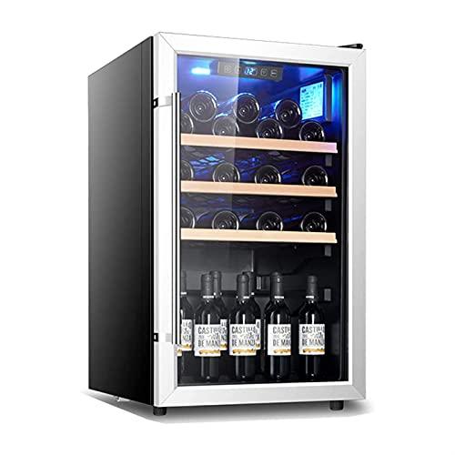 ELXSZJ XTZJ Refrigerador de Vino, Mini Nevera 18 Botella frigorífico de Vino con refrigerador de Acero Inoxidable, Ajuste de Vino Rojo y Blanco, Incorporado o Independiente