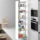 Casaenorden - estantería extraíble para despensa - columna despensero - despensa multiusos, 400 mm ancho puerta/alto producto mm 1200-1600