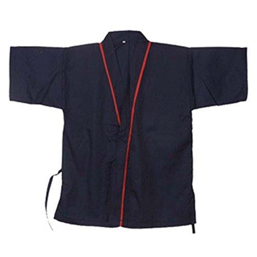 Black Temptation Japanisches Restaurant Kellner Kleidung halbe Ärmel Uniform Sushi Kochjacke #23