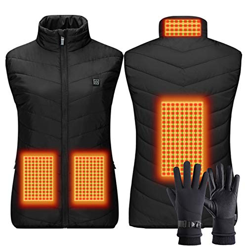 ZYQDRZ Heizung Weste, Heizung Weste, Intelligente Temperaturregelung Heizung Anzug, Kleidung Laden, Mit Warmen Handschuhe Touchscreen,Woman,XXXL