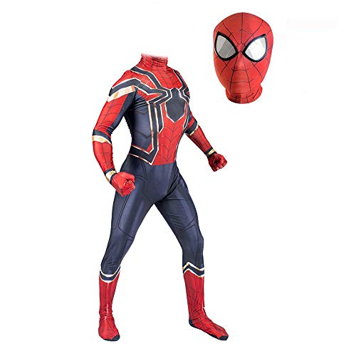 Hope Avengers 4 Iron Man Spider-Man Siamese Calzamaglia per Bambini Adulto Costume Cosplay Fancy Dress Party Halloween Abbigliamento Travestimenti di Scena,Adult-XL