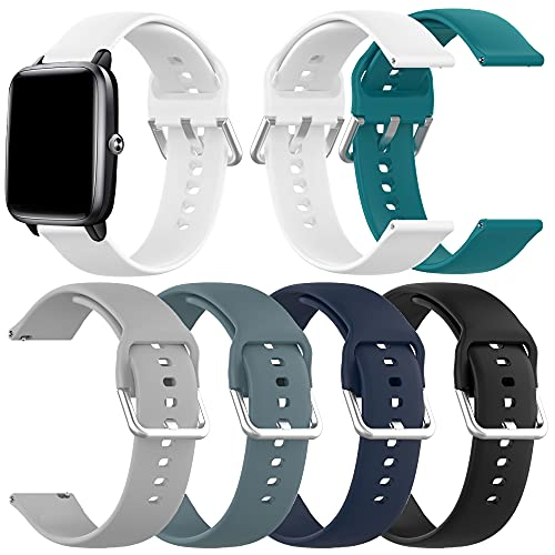 Bands Compatible with Letsfit IW1 EW1 Smart Watch Band Adjustable Quick Release Soft Silicone Waterproof Bands Replacement for Women Men(Not for ID205L ID205S)