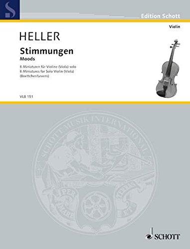 Stimmungen: 8 Miniaturen. Violine (Viola) solo. (Edition Schott)