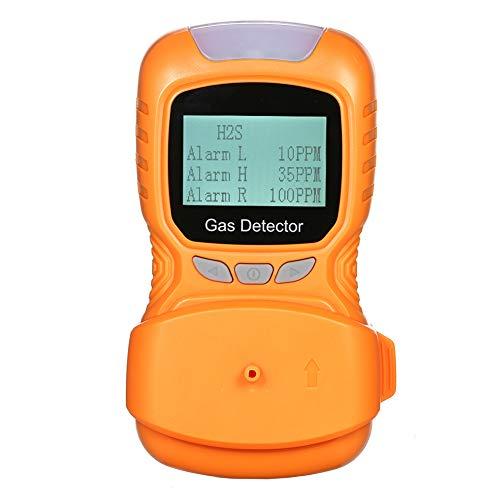 AKAKKSKY Gasmelder O2, CO, H2S, UEG Messgerät überwachen USB Aufladen Sound Light Vibrationsalarme Hochempfindlicher Sensor Daten können gespeichert Werden,Orange