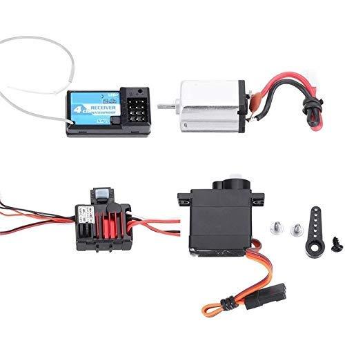 GzxLaY Mini RC Ricevitore per Auto e Motore ESC e servo Parti RTR Impermeabili Set di Accessori per URUAV 1/24 4WD 2.4G Modello di cingoli Accessori per Pezzi di Ricambio per Veicoli