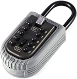 10-Key Portable Push Button Key Safe, Key Padlock with Strength and Rust Resistance.