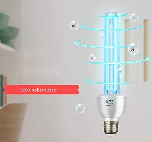 HUtu E27 UV-Lampe, 220V Luftreiniger Keines Ozon-Sterilisator Licht, Birne Tragbare keimtötende UV-Röhre mit Fernbedienung