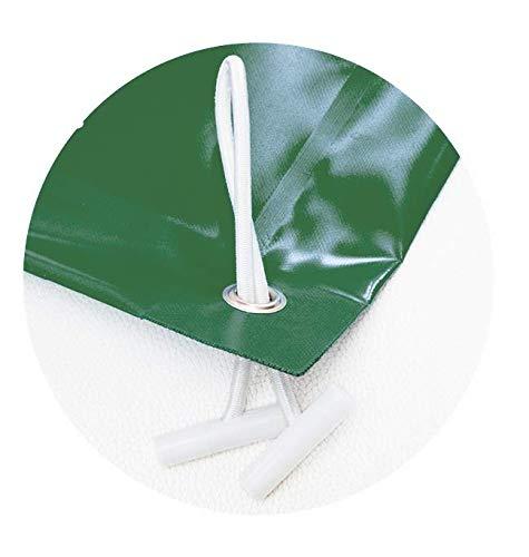 INTERNATIONAL COVER POOL Housse de piscine hiver de 14 x 6 mètres. (Dans une piscine de 13 x 5 mètres, la bâche couvrira 50 cm sur tout le contour de la piscine). Couleur : vert (extérieur)/vert (intérieur).