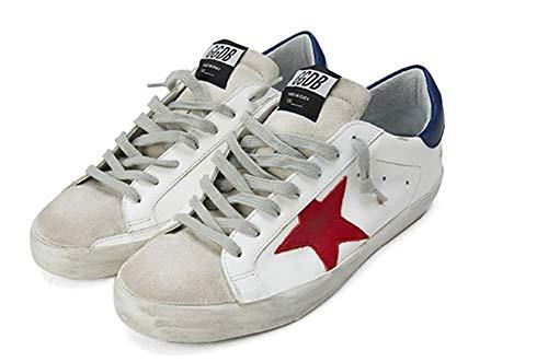 VCEGGDB Zapatillas de deporte de moda para mujer con cordones y punta redonda, estilo casual, para caminar, zapatos planos, color, talla 41.5 EU