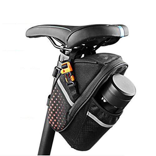 LXVY Bolsa De Ciclismo con Silbato Que Salva Vidas, Bolsa De Sillín De Bicicleta De Montaña Bolsa De Asiento Herramientas De Reparación De Bicicletas Paquete De Bolsillo con Bolsa De Botella De Agua