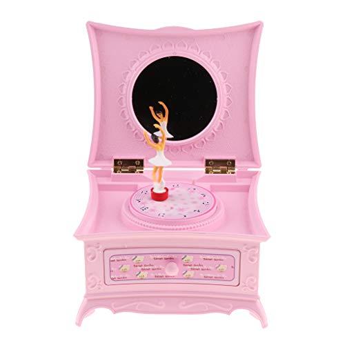 Ballerina musiklåda musikbox smyckeskrin, fin present till födelse, dop, födelsedag, namnsdag etc. – rosa