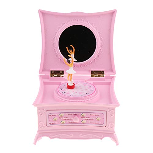 Générique Homyl Boîte à Musique Fille Dansante Boîte à Bijoux Souvenir Vintage Cadeau Créatif - Castle in The Sky - Rose