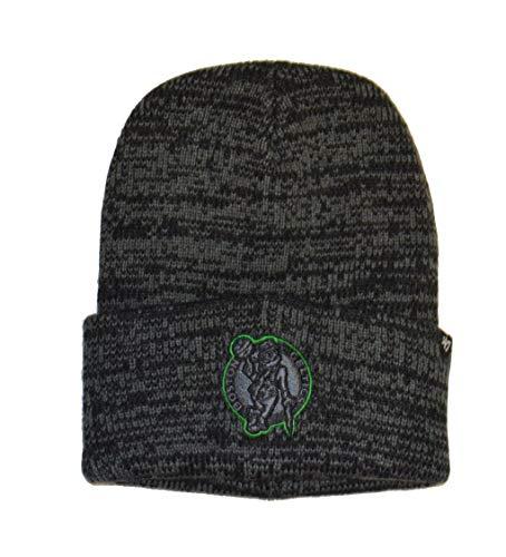 '47 Boston Celtics Black Cuff Brain Freeze Beanie Hat - NBA Premium Cuffed Knit Toque Cap
