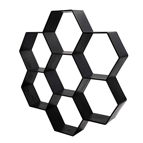 LSME 11.8' x 11.8' Reusable Concrete Molds Hexagon,Walk Path Maker Pavement Paving Paver Stepping Stone Mould Small Easy Use Garden Lawn Walkway Yard Patio Decoration