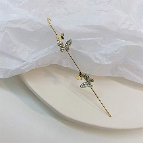 Ruby569y Dangle Earrings for Women Girls,1Pc Unique Design Ear Wrap Crawler Nickel-Free Copper Clip On Earings for Women - B