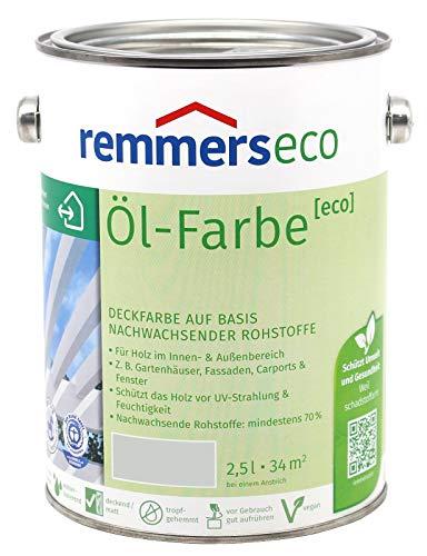 Remmers Öl-Farbe Eco Holzfarbe für Innen und Außen (2,5L, Lichtgrau Ral 7035)