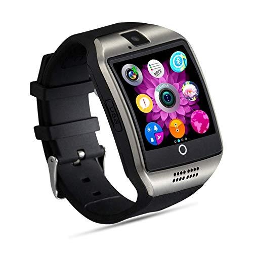 FENHOO Smartwatch Smart Watch Fitness Armband Uhr mit SIM Karte Slot Touchscreen Kamera Schrittzähler Musiksteuerung Kompatible Samsung Huawei Xiaomi Android ios Handy Damen Herren Kinder (Silber)